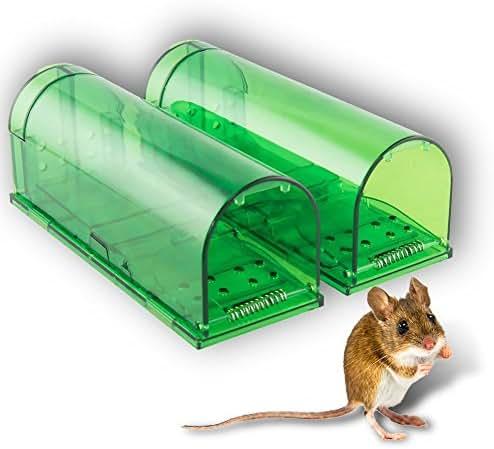 HoneyBull Humane Mouse Trap [2 Pack] No-Kill, Pet & Children Safe