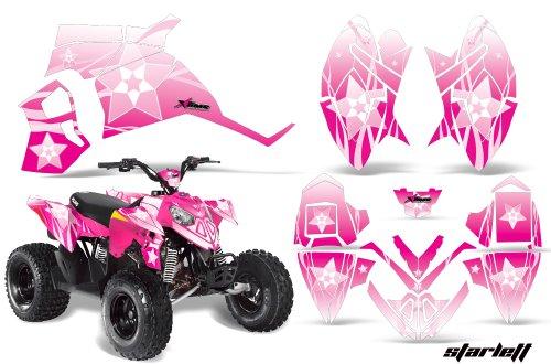 AMRRACING Polaris Outlaw 90 All Years Full Custom ATV Graphics Decal Kit - Starlett Pink