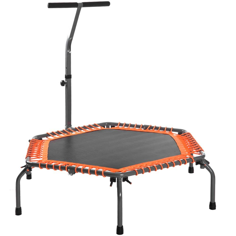 Merax Exercise Fitness Trampoline Home Workout Cardio Training Indoor Rebounder for Adults (Orange)