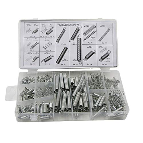 GINZU 200 PCS Steel Spring Muelles Metal Assortment Electrical Hardware Spring Drum Extension Tension Springs Pressure Suit NEW PRODUCT