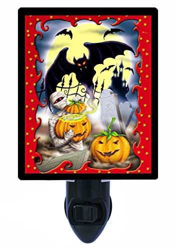 Mummy Costume Images (Halloween Night Light - Mummy Halloween - Bats - Pumpkins)
