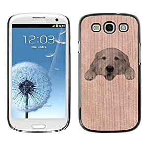- / Cute Labrador Pet Dog - - Funda Delgada Cubierta Case Cover de Madera / FOR Samsung Galaxy S3 I9300 I9308 I737 / Jordan Colourful Shop/