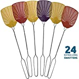 Bug & Fly Swatter – Extra Long Handle 24 Pack Fly