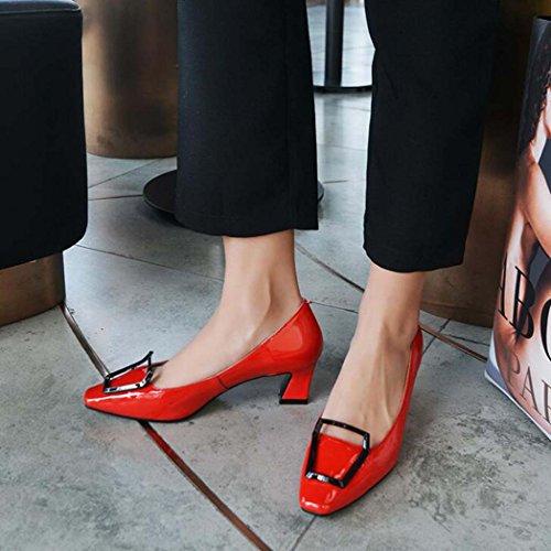 Cuadrados Mujeres Tac Negros Zapatos para Zapatos de pwaWqpd7fE