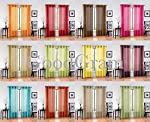 GoodGram 2 Pack Ultra Luxurious High Woven Elegant Sheer Grommet Curtain Panels - Assorted Colors
