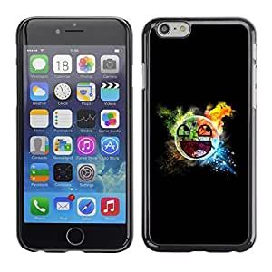 LECELL -- Funda protectora / Cubierta / Piel For Apple iPhone 6 -- Awesome Smiley Blast --