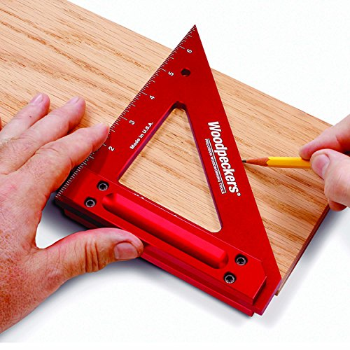 Woodpeckers Precision Woodworking Tools CRPSQ6-INRD Carpenters Square, 6-Inch