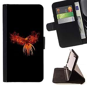 For Samsung Galaxy S6 EDGE (NOT S6) Plus / S6 Edge+ G928 Case , Red Phoenix- la tarjeta de Crédito Slots PU Funda de cuero Monedero caso cubierta de piel