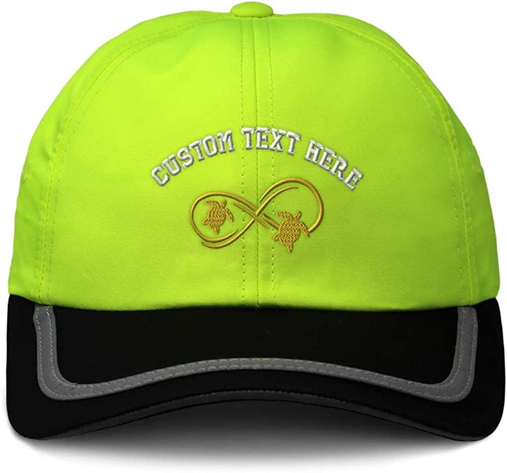 Custom Reflective Running Hat Sea Turtle Infinity Couple B Embroidery One Size