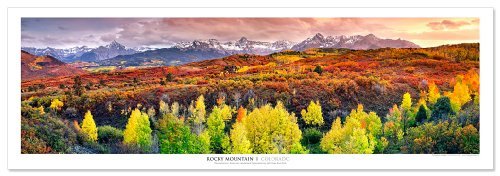 Award Winning Landscape Panoramic Art Print Poster: Rocky Mountains, Colorado