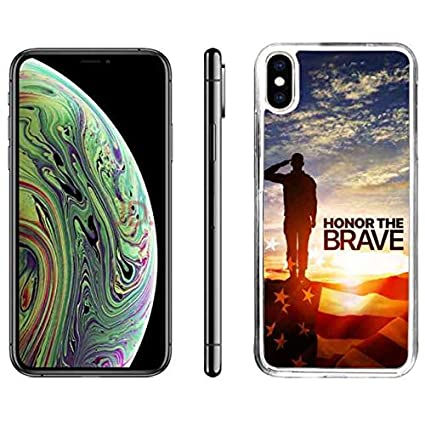 hot sale online a69c3 cceeb Amazon.com: iPhone X Back Case US Army TPU Custom iPhone Xs Case US ...