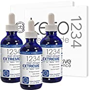 Creative Bioscience 1234 Diet Drops Extreme (3 Pack) - Appetite Control - Weight Loss Drops - Keto Diet - Intermittent Fasting - 1234 Diet Guides - 2 Fl Oz (3 Pack)