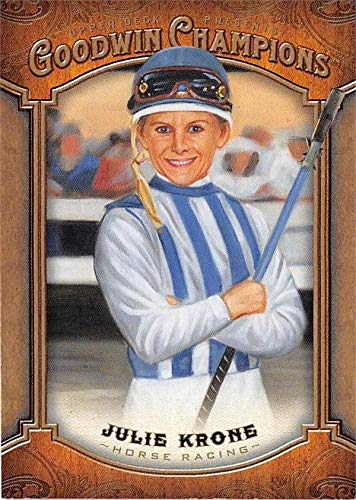 Julie Krone trading card (Jockey Horse Racing) 2014 Upper Deck Goodwin Champions #66