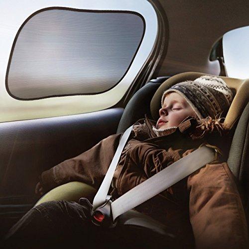 OMORC Pare-soleil Voiture pour Bébés (Pack 3) Nuances de Fenêtre de Voiture Protection Optimale Contre l'éblouissement & Chaleur - Garantie à vie