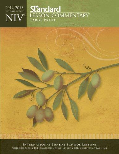 NIV® Standard Lesson Commentary® Large Print 2012-2013 Standard Publishing