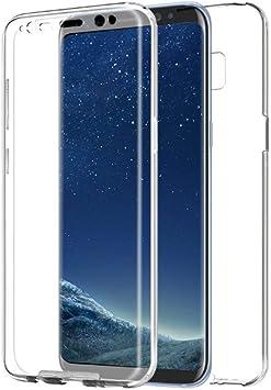 PLANETMOVIL [[ Compatible con Samsung Galaxy S8 + Plus ]] Funda de Cobertura Completa 360 DE Silicona Delantera + Trasera RIGIDA Doble 100% Transparente: Amazon.es: Electrónica