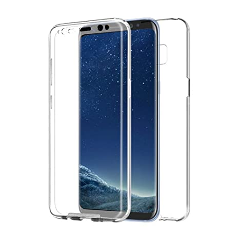 PLANETMOVIL [[ Compatible con Samsung Galaxy S8 + Plus ]] Funda de Cobertura Completa 360 DE Silicona Delantera + Trasera RIGIDA Doble 100% ...