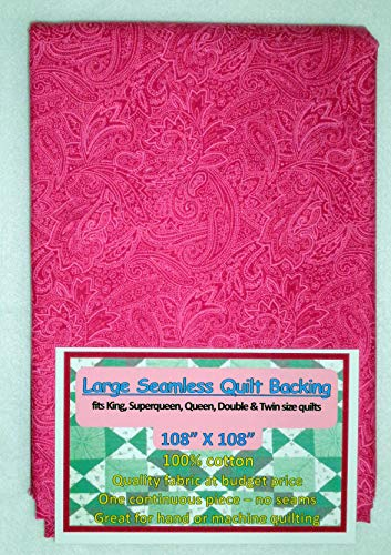 Quilt Backing, Large, Seamless, Pink, C49638-900