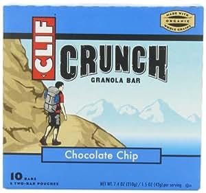CLIF CRUNCH - Granola Bar - Chocolate Chip - (1.48 oz, 5 Two-Bar Pouches)