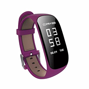 xinxinyu Smart Watch, {resistente al agua Smart Watch} {Tensiómetro Pulsómetro a vitrina} {Sport Tracker Smart Watch}, morado: Amazon.es: Deportes y aire ...
