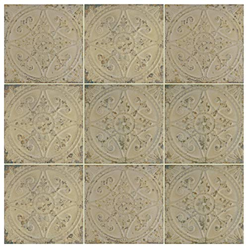 SomerTile FPESAJB Murcia Ceramic Floor and Wall Tile, 13'' x 13'', Blanco by SOMERTILE (Image #12)