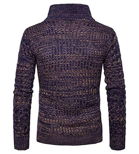 Tricot Jersey Veste Cardigan Hommes Avec En Huixin Col Hiver Marine Haut Automne Coton Vintage Le Mince Manteau Z5TTwqx6