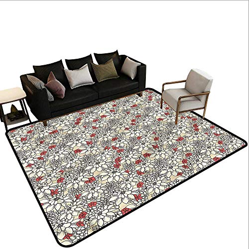 Cream,Dining Table Rugs 80