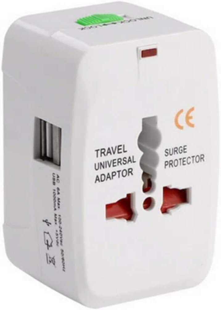 Pier Telecom Universal All in 1 Worldwide Travel Power Adapter AC International Plug Adapter With 2 USB Port