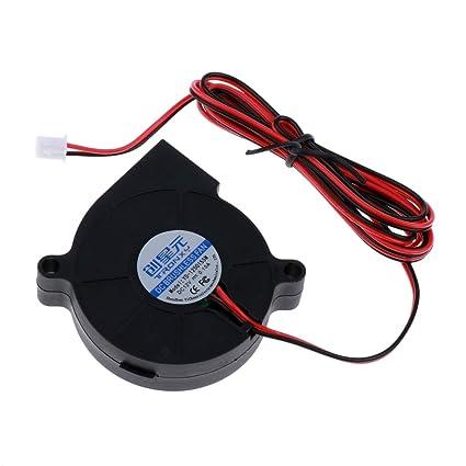 H HILABEE 12V 40mm Soplador Turbo Fan 4020 40x40x20mm PLA De ...