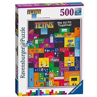 Ravensburger UK 15002 Ravensburger Tetris-We All fit Together 500pc Jigsaw Puzzle,: Toys & Games