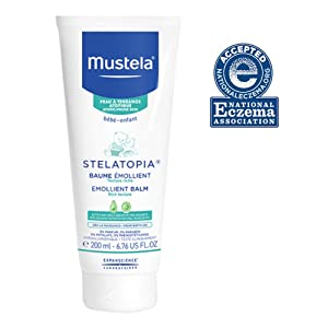 Mustela Stelatopia Emollient Balm, Rich Daily Baby Cream for Extremely Dry to Eczema Prone Skin, Fragrance-Free, Natural Formula