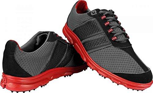 Men's Footjoy Superlites CT Spikeless Golf Shoes Black/Red Size 9.5 M US 58123