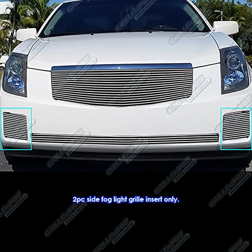 APS Fits 2003-2007 Cadillac CTS Fog Light Cover Billet Grille Grill Inserts #A65812A