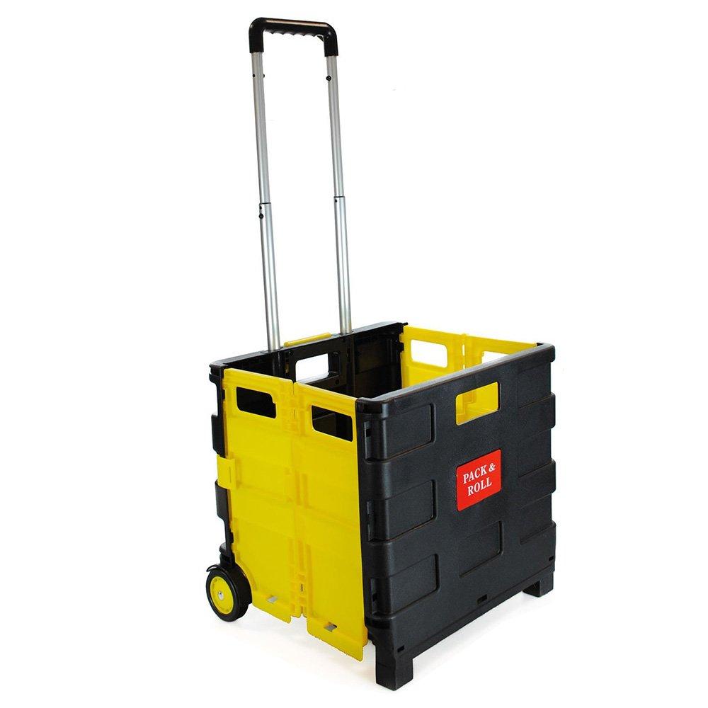 Carrello pieghevole in plastica–leggero Teacher' s Book cart–Trolley pieghevole contenitore con manico in alluminio ASAB