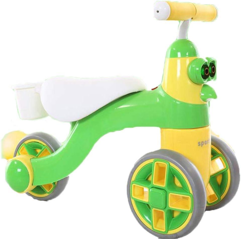 Zavddy-SP Bicicleta de Equilibrio para los bebés y niños Cartoon Baby High-Carbon Steel Competitivo Balance Car No Pedal Outdoor Toddler Bike Deporte Bicicleta de Equilibrio