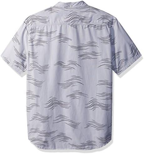 Quiksilver Mens Valley Groove Print Long Sleeve