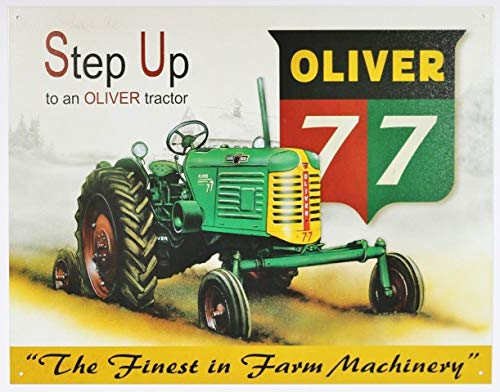Step Up to A Oliver Tractor Tin Sign Country Farm Barn Decor Harvester Farmer Metal Wall Signs Hall Garage Poster TIN Sign 7.8X11.8 INCH