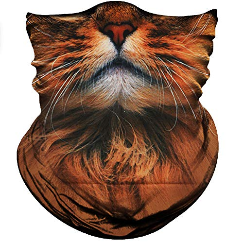 Scarf Cats Patterns - Obacle Animal Half Face Mask Sun Dust Wind Protection Durable Breathable Seamless Face Mask for Men Women, Lightweight Thin Neck Gaiter for Outdoor Sports Gifts