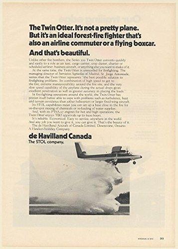 1972 de Havilland Canada Twin Otter Aircraft Forest Fire Fighter Plane Print Ad (De Havilland Canada Twin Otter)