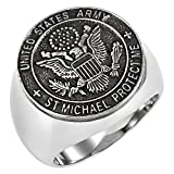 united states army ring - Men's Saint Michaels Proctect Us Prayer United States Army Stainless Steel Ring