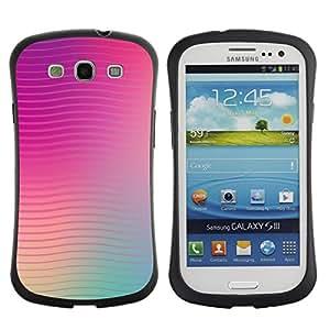 Suave TPU GEL Carcasa Funda Silicona Blando Estuche Caso de protección (para) Samsung Galaxy S3 I9300 / CECELL Phone case / / lines waves purple teal peach blurry /