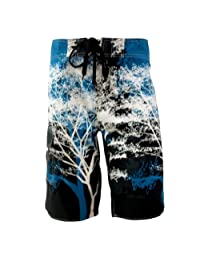 MADHERO Mens Quick-Dry Polyester Contrast Color Lightweight Boardshorts