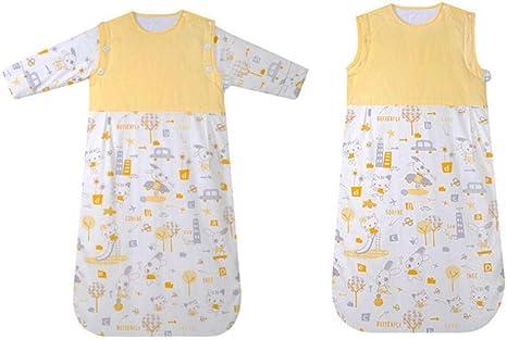 Saco de dormir unisex para bebés 6-24 meses Primavera Verano Mangas desmontables Capa doble Niños Saco de dormir suave y cómodo para el transporte del bebé: Amazon.es: Bebé
