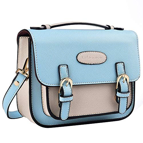 (Katia Retro Vintage PU Leather Bag Compatible for Polaroid Fujifilm Instax Mini 9/8/ 7s/ SQ6/ 25/90/ Instant Film Camera with Shoulder Strap - Blue )