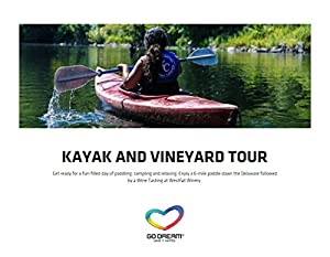 Kayak & Vineyard Tour in New York Experience Gift Card NYC - GO DREAM - Sent in a Gift Package