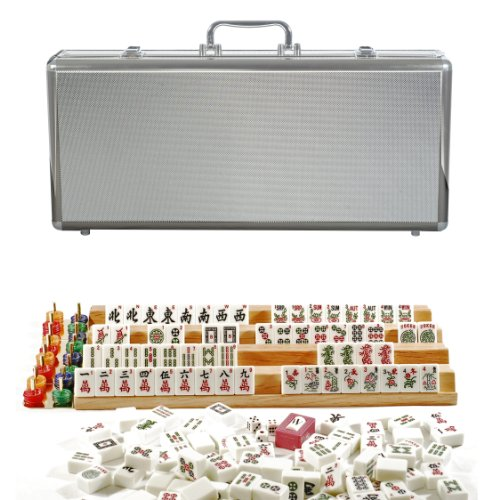 Deluxe American Mahjong in a Silver Aluminum Case by WE Games