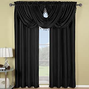 waterfall valance pattern soho black waterfall valance solid pattern 57x37 inches by royal hotel home 1707