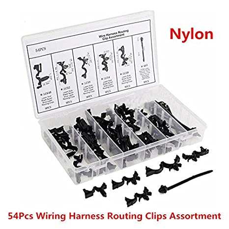 Amazon.com: 54x Car Nylon Assortments Retainer Mould Harness Wire ...