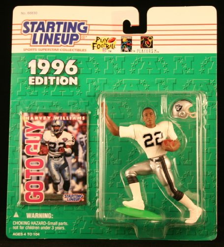 HARVEY WILLIAMS / OAKLAND RAIDERS 1996 NFL Starting Lineup Action Figure & Exclusive NFL Collector Trading Card
