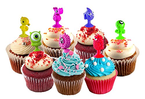 TheWorldMart Cupcake Toopers Childrens Party Pastry Decoration Birthays Parties 20pcs Lot Good Cupule Kids Monsters Ocean Animals Action Figures Toys Suction Cup 2-3 (Monster High Rings)